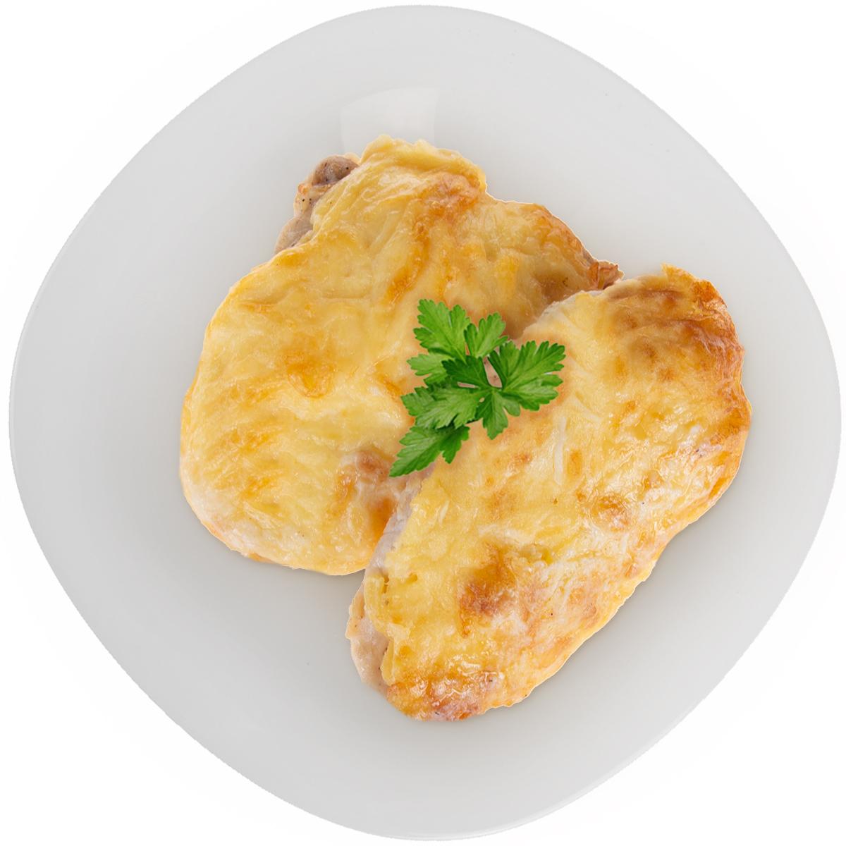 Филе мяса птицы с ананасом и сыром
