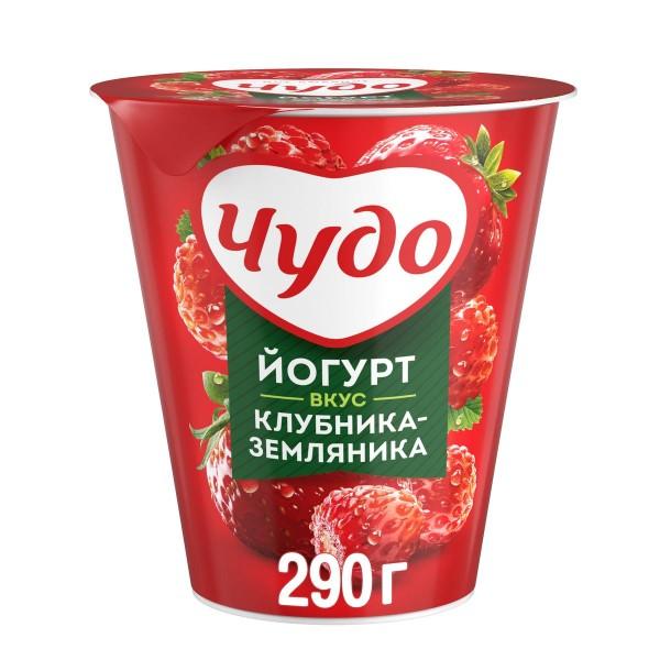 Йогурт Чудо 2,5% 290гр клубника-земляника БЗМЖ