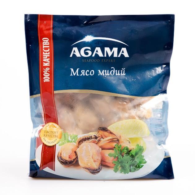 Мясо мидий варено-мороженое Agama 300гр