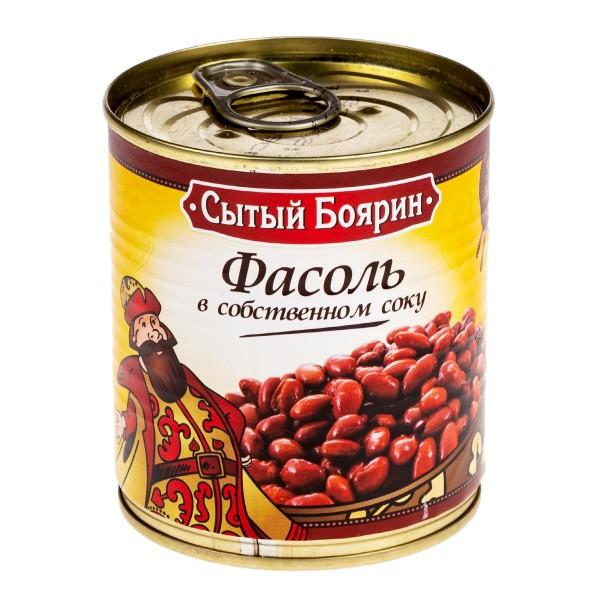 Фасоль красная в собственном соку Сытый боярин 310гр