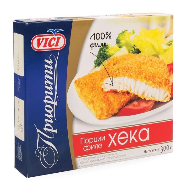 Филе хека в панировке замороженное Приорити Vici 300гр