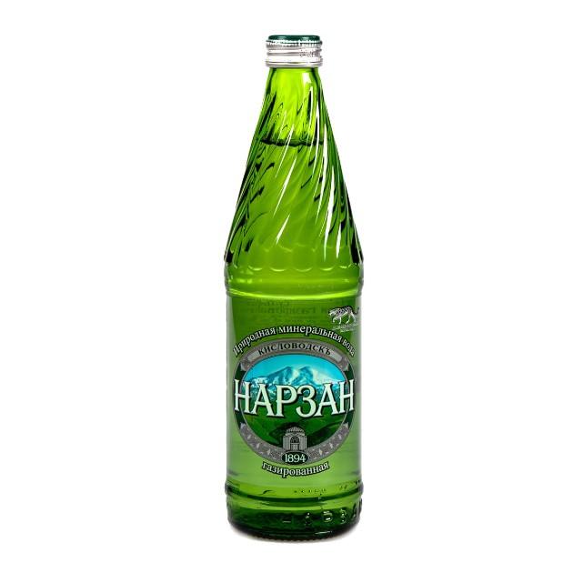 Вода питьевая минеральная газированная Нарзан 0,5л