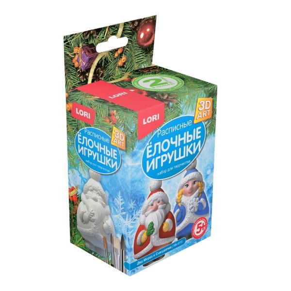 Набор для творчества Роспись елочных игрушек Мороз и снегурочка