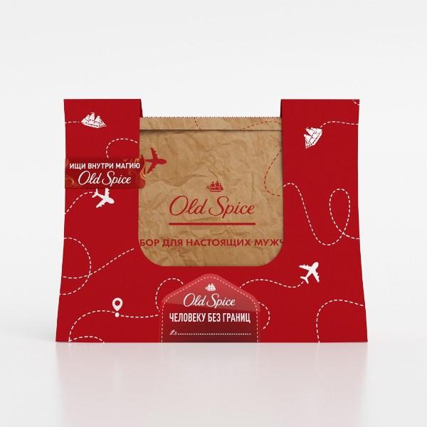 Набор подарочный Old Spice: дезодорант, гель для душа, шампунь, пена для бритья