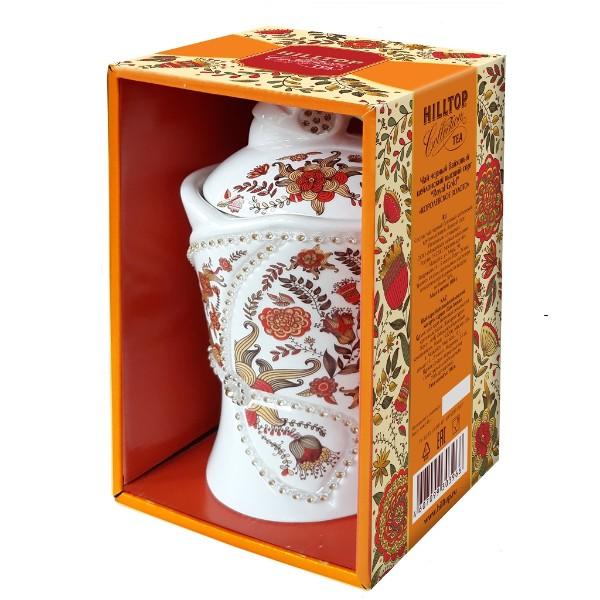 Чай Hilltop Цветочный орнамент Колоролевское золото 100гр