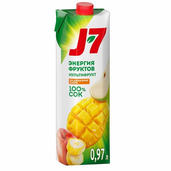 Сок J-7 0,97л мультифрукт с мякотью