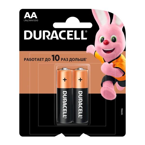 Батарейка Duracell basic LR6-2BL АА 2шт