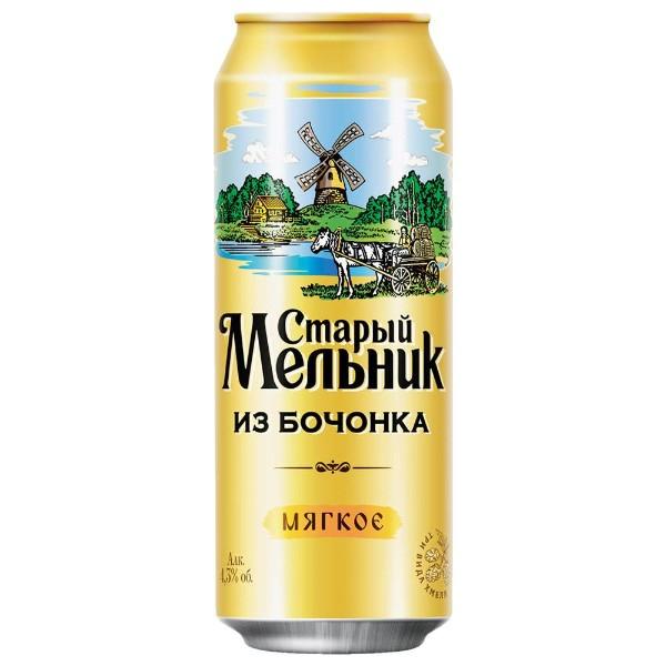 Пиво мягкое 4,3% Старый мельник из бочонка 0,45л