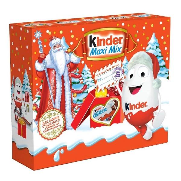 Новогодний подарок Kinder Maxi Mix Посылка 223гр