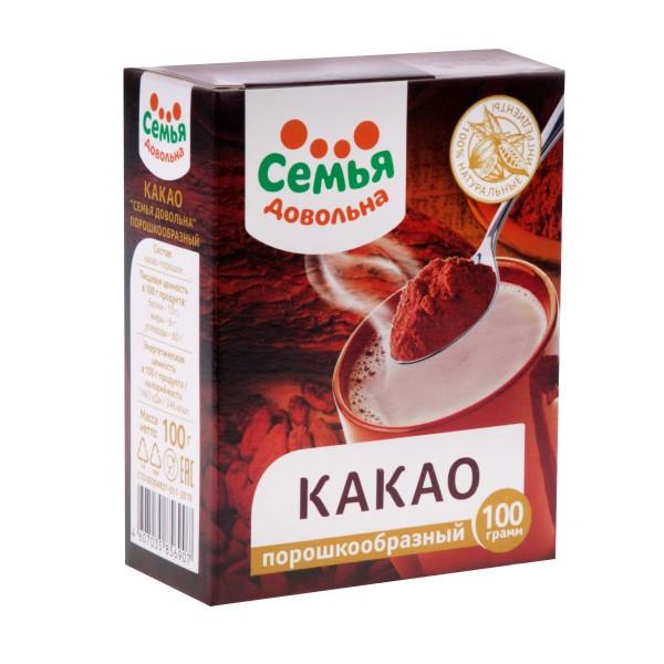Какао-порошок Семья довольна 100гр