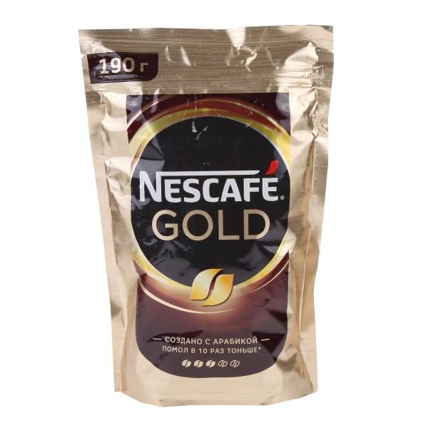 Кофе растовримый Nescafe Gold 190гр
