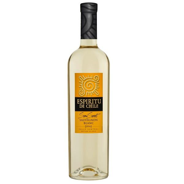 Вино белое полусладкое Espiritu de Chile Sauvignon Blanc Semi-Sweet 12% 0,75л