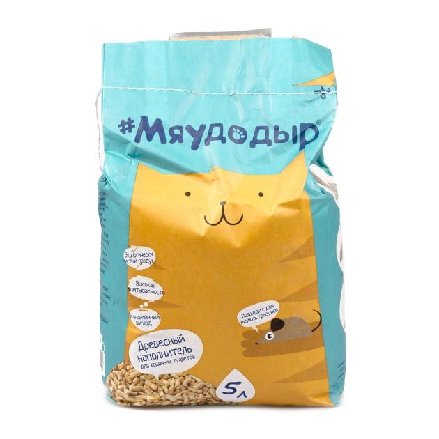 Наполнитель для кошачьих туалетов Мяудодыр 5л древесный
