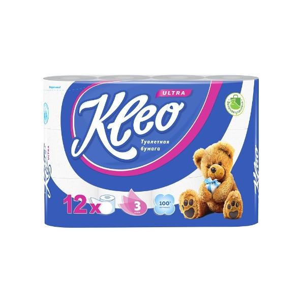 Бумага туалетная Kleo Ultra 3 слоя 12 рулонов