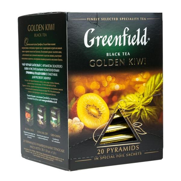 Чай черный Greenfield Golden Kiwi 20 пирамидок