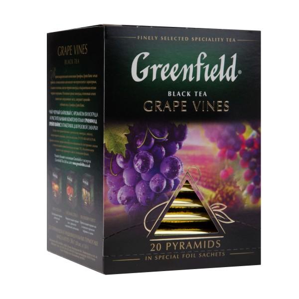 Чай черный Greenfield Grape Vines 20 пирамидок