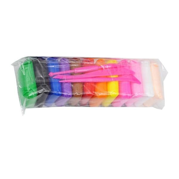 Масса для лепки 12 цветов + пластиковые стеки 3шт Mazari