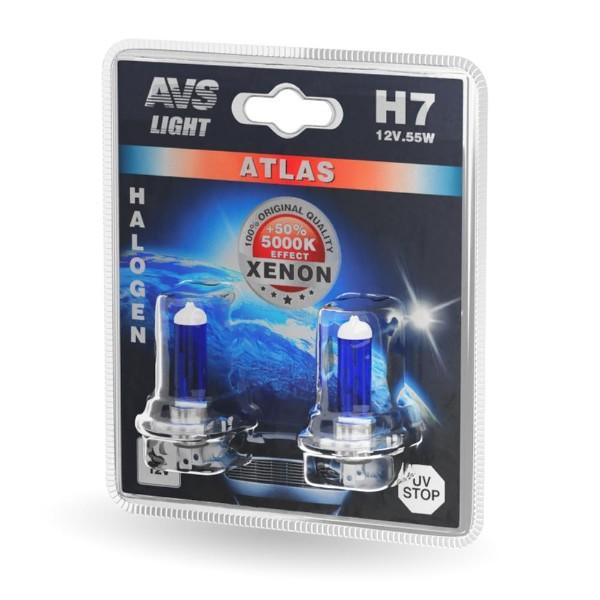 Лампа галогенная Atlas H7 55W 12V AVS 2шт
