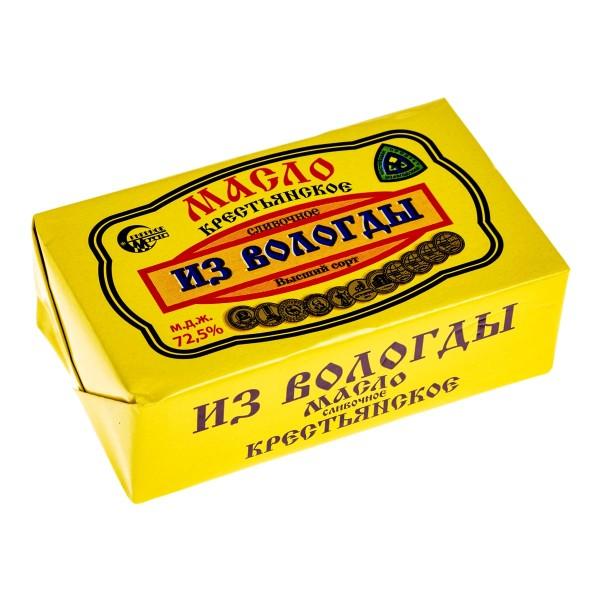 Масло сливочное Крестьянское Северное молоко 72,5% 180гр БЗМЖ