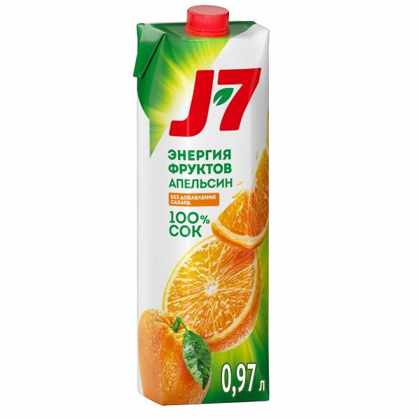 Сок J-7 0,97л апельсин с мякотью