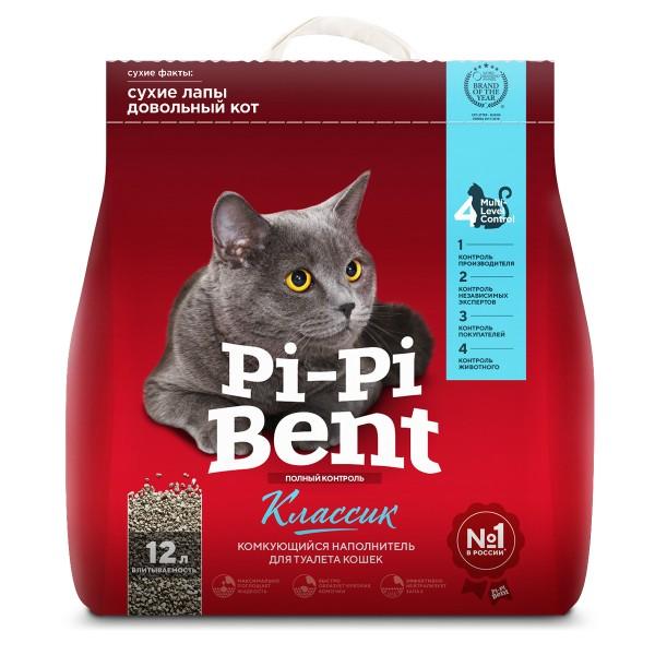 Наполнитель для кошачьих туалетов Pi-Pi-Bent 5кг комкующийся