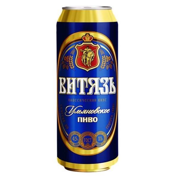 Пиво светлое Ульяновское Витязь 4,5% 0,45л
