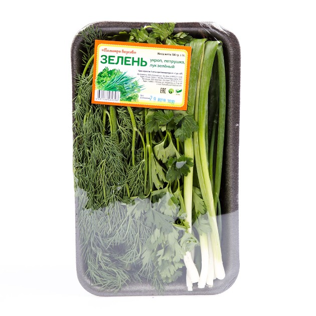 Набор зелени лук зеленый петрушка укроп Палитра вкусов 100гр