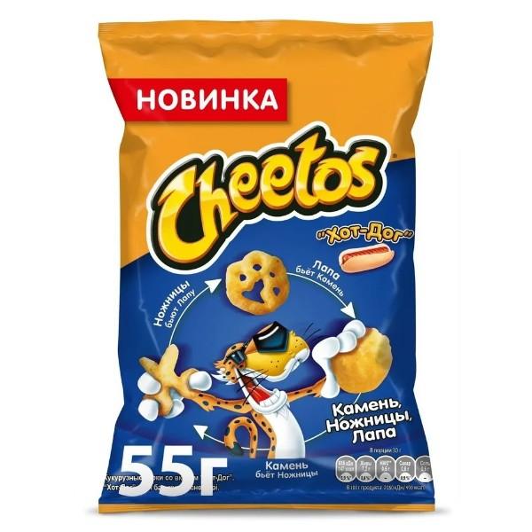 Кукурузные палочки Cheetos 55г хот дог