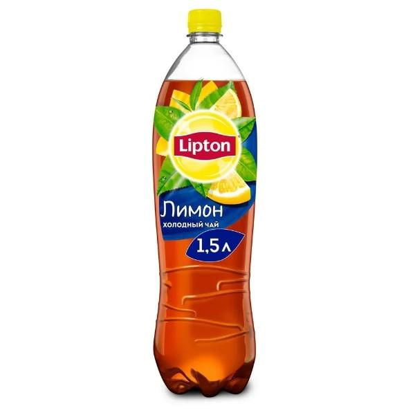Напиток чайный Lipton черный 1,5л лимон