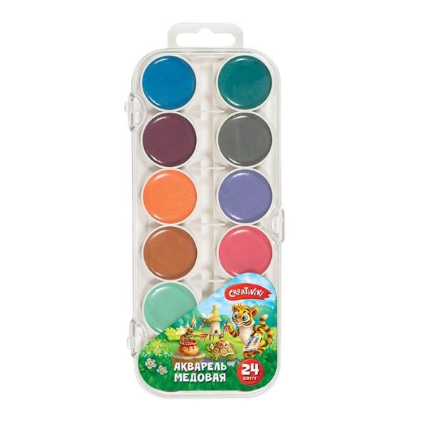 Краски акварель Сreativiki 24 цвета