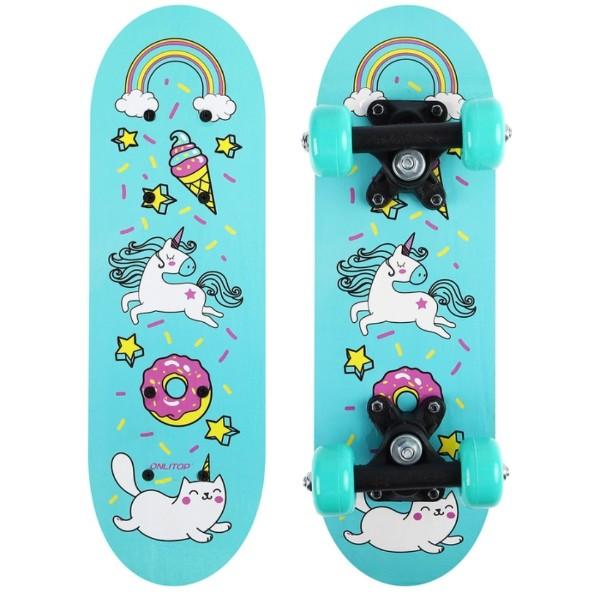Скейтборд детский Единорог 44х14см