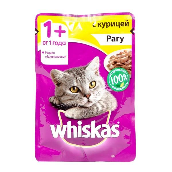 Корм для кошек Whiskas 85гр рагу с курицей