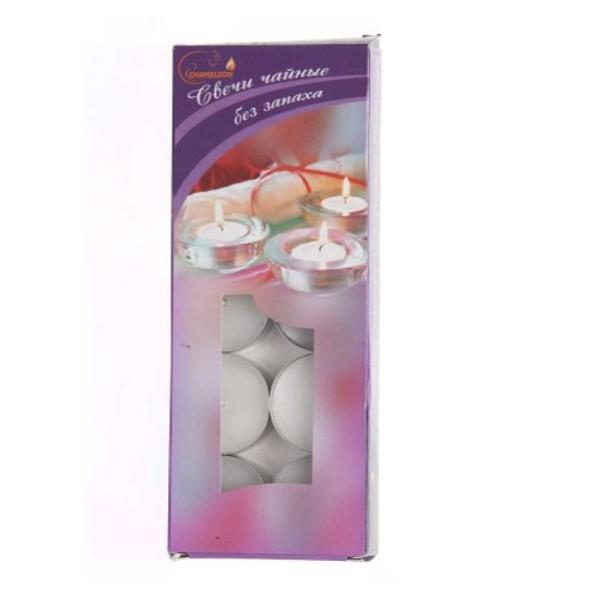 Набор чайных свечей в гильзе без запаха 10шт