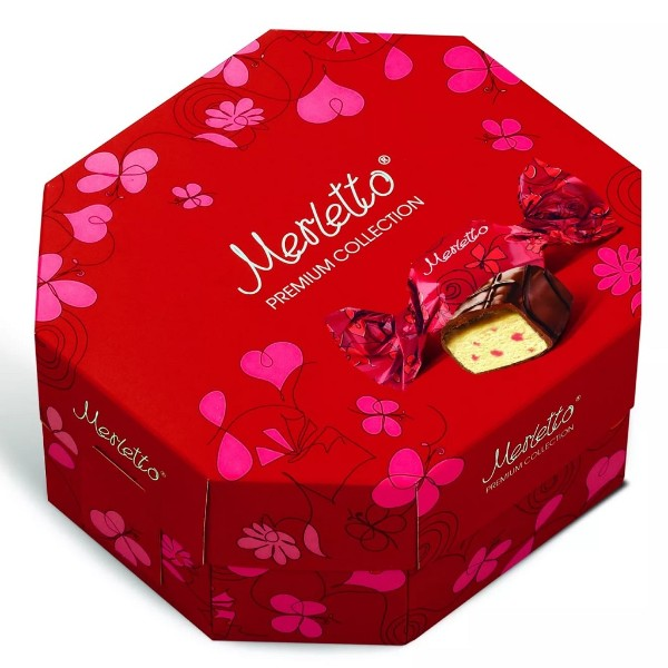 Конфеты шоколадные Merletto с вишней 150г