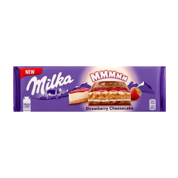 Шоколад молочный Milka 300гр strawberry cheesecake
