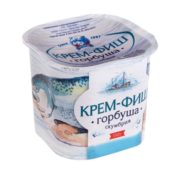 Паста рыбная из горбуши и скумбрии Крем-фиш Европром 150гр