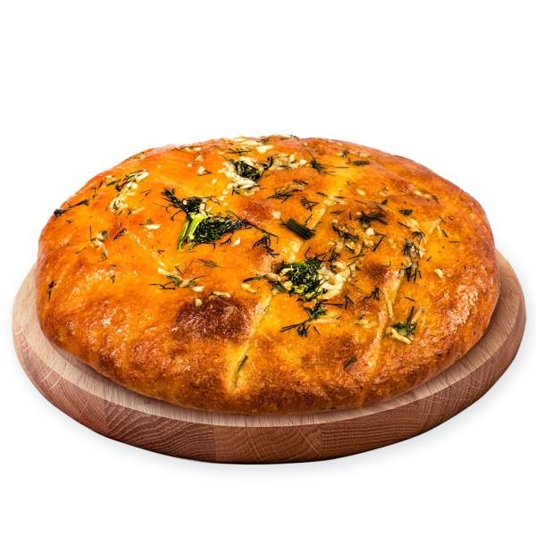 Хлеб картофельный с чесночной начинкой 250г производство Макси