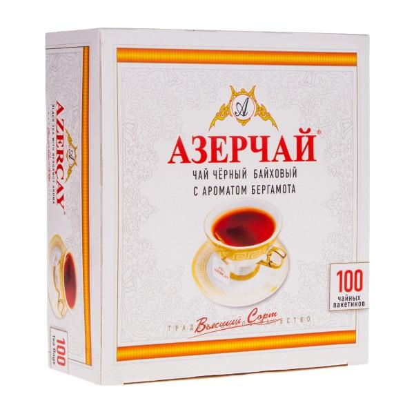 Чай черный с бергамотом Азерчай 100пак