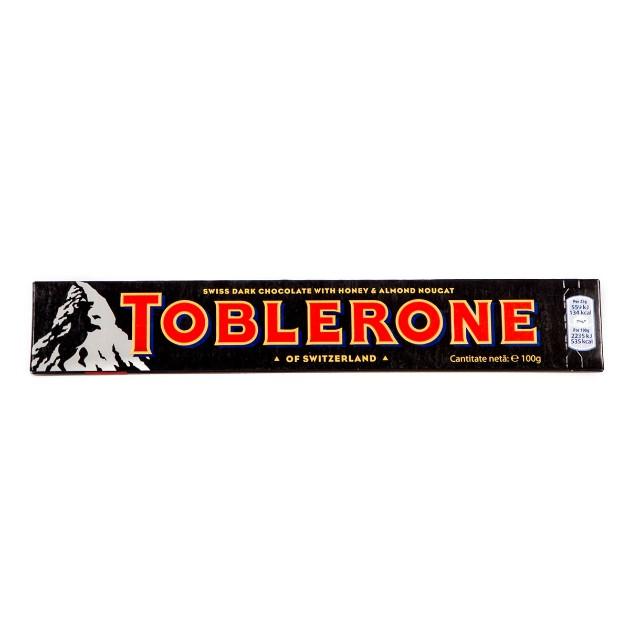 Шоколад темный с медово-миндальной нугой Toblerone 100гр