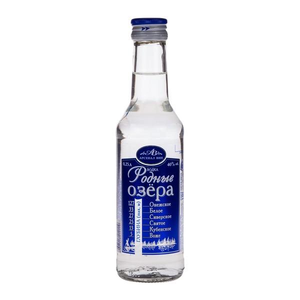 Водка Арсенал вин Родные Озера  0,25л 40%
