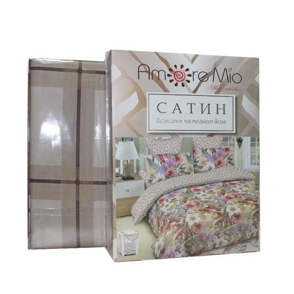 Комплект постельного белья Amore Mio сатин 1,5-спальный