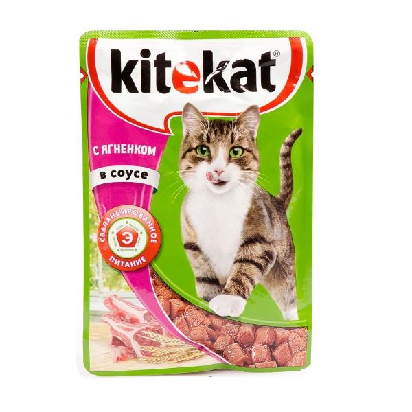Корм для кошек Kitekat 85гр с ягненком в соусе