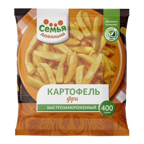 Картофель фри замороженный Семья довольна 400г