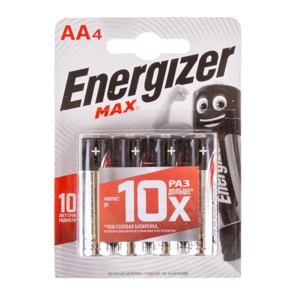 Батарейка Energizer Max LR6/E91 AA 4шт