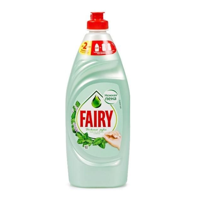 Средство для мытья посуды Fairy Нежные руки 650мл чайное дерево и мята
