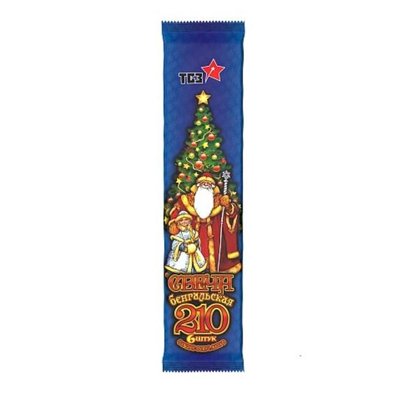 Свечи бенгальские 210 6шт