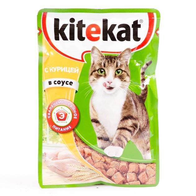 Корм для кошек Kitekat 85гр с курицей в соусе