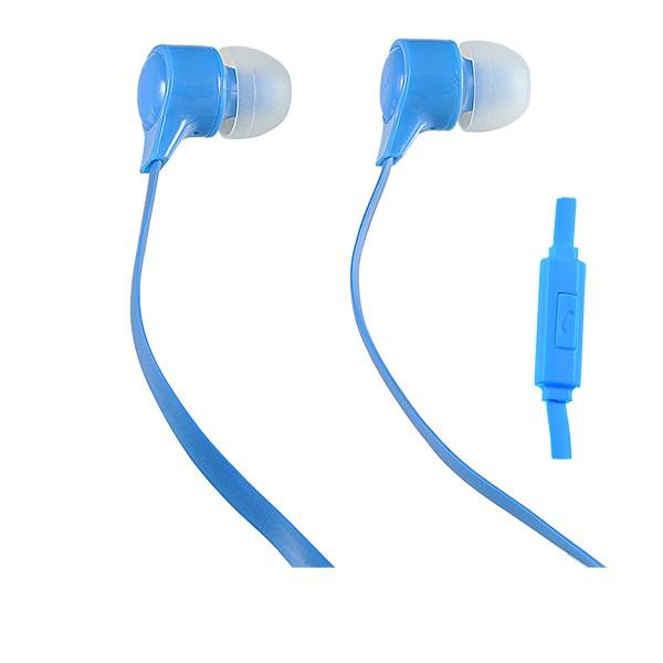 Наушники внутриканальные Perfeo Handy с микрофоном голубые