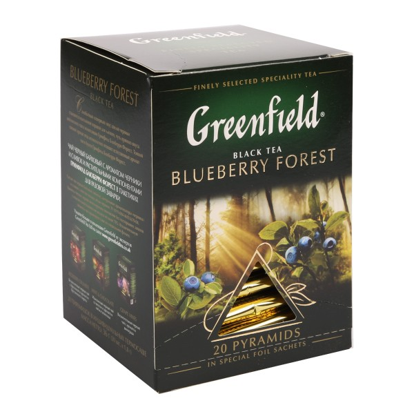Чай черный Greenfield Blueberry Forest 20 пирамидок