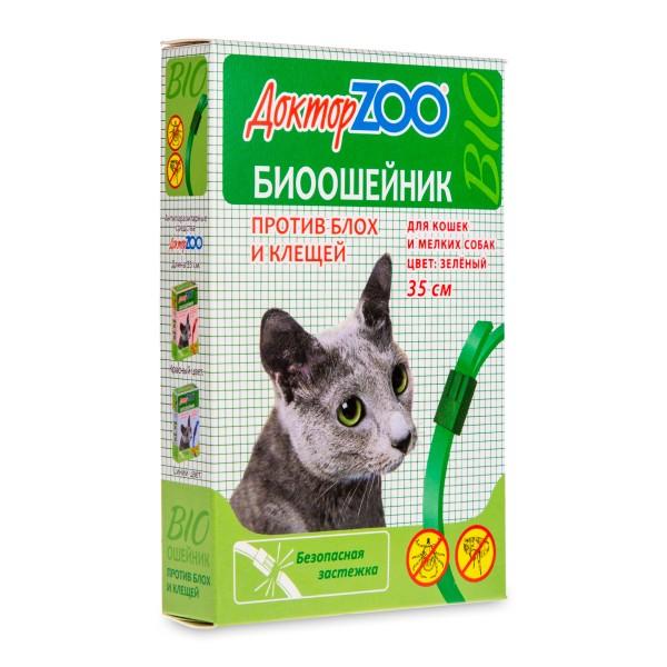 Ошейник от блох для кошек и мелких пород собак Доктор Zoo 35см